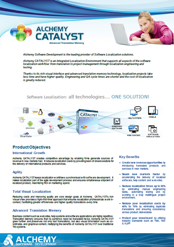 Alchemy CATALYST brochure