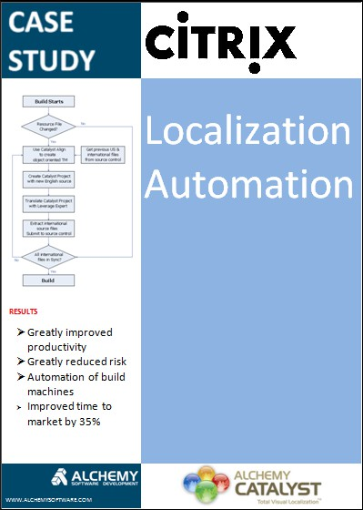Automating Software Localization case study