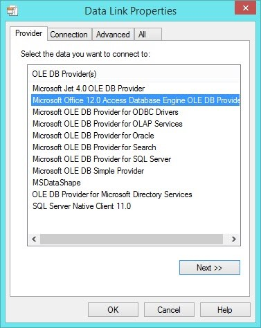 Microsoft Access(.mdb、.accdb)のODBC、OLEDB …